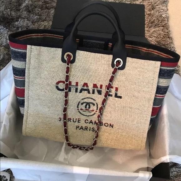 10c3d7636803 CHANEL Handbags - Chanel Deauville Tote